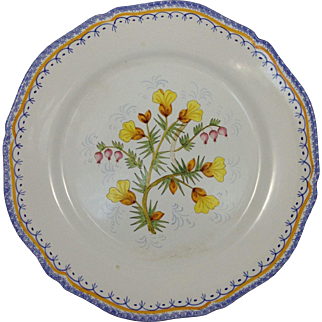 french henriot Quimper plate
