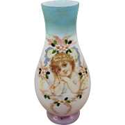 french Opaline glass vase