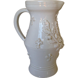 french majolica pitcher