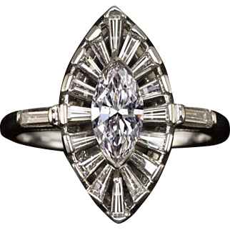 GIA Certified 1.75ct Natural Fancy Pink Diamond Engagement Ring Marquise Vintage Halo