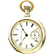 Coin Silver Transitional Illinois Pockket Watch CA1886