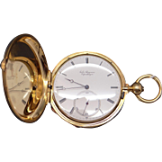 Antique Jules Jurgensen Solid 18k Yellow Gold Hunting Case Key Wind Pocket Watch With Key