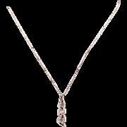 "14k Yellow Gold .33ct Round Cut Diamond Journey Love Pendant Necklace 18"""