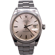 Vintage 1950's Gents Stainless Steel Rolex Date Automatic Watch 1500