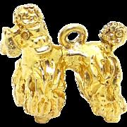 9k Yellow Gold 3D Guard Dog Puppy Charm Pendant English Hallmark