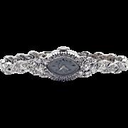 Hamilton 14k White Gold 2ct Diamond 17 Jewels Manual Wind Bracelet Watch 780