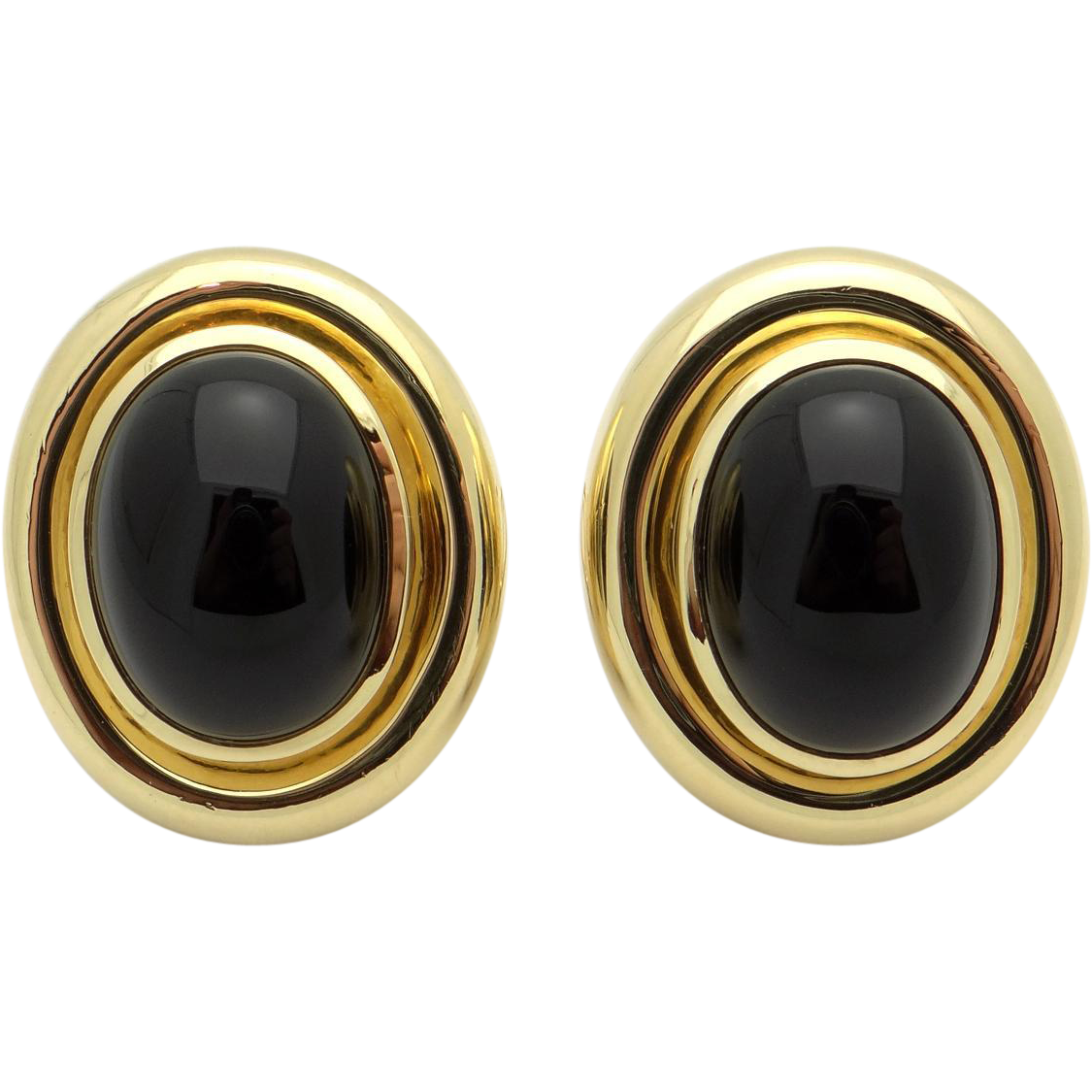 Tiffany Co By Paloma Pico 18k Yellow Gold Oval Cut Cabochon Onyx Antique Jewelry Line Ruby Lane