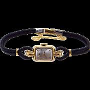 Vintage Ladies Rolex 18k Yellow Gold 17 Jewel Dress Watch 8165