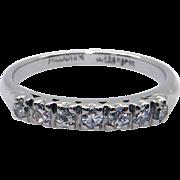 Palladium .21ct Round Cut Diamond 3mm Wedding Band Stack Ring Size 5.75