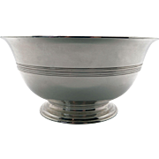 Vintage Tiffany & Co Makers Sterling Silver Footed Candy Nut Bowl 8243