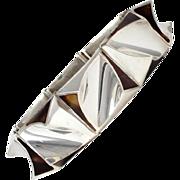 Antonio Pineda Rare Shell .970 Silver Modernist Bracelet