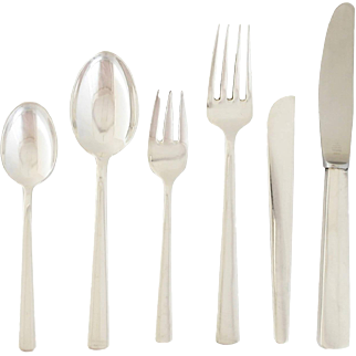 Codan Sterling Silver Modern Flatware Set for Eight