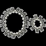Hector Aguilar .940 Silver 'Doll' Motif Necklace & Bracelet Set