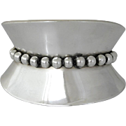 Los Castillo Wide Sterling Silver Cuff Bracelet