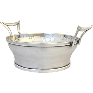 Henry Petzal Sterling Silver Double Handled Bucket