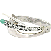 Miguel Pineda .950 Silver Sculptural Bracelet
