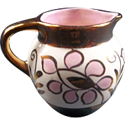 Pink Copper Lusterware Pitcher