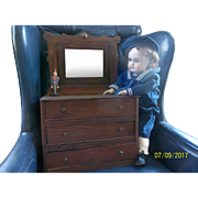 Antique Dolls Dresser with Mirror for the Larger Doll