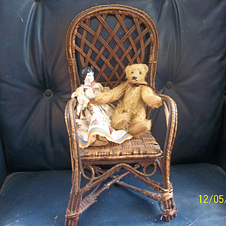 Antique Larger Wicker Chair