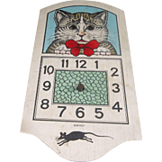 A Great Vintage Cat Clock Made in Germany that Needs Work