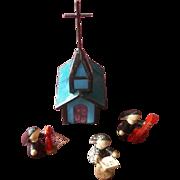 Leaded Glass Miniature Church