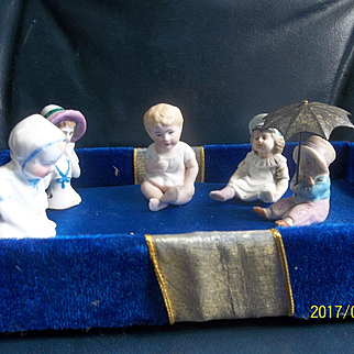 A Great Group of Small Dolls & Half Doll