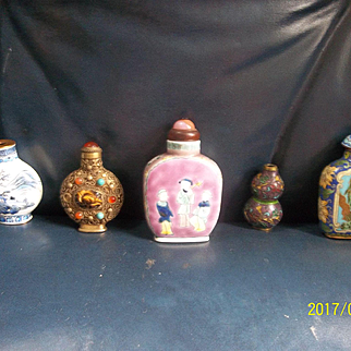 A Fine Group of Chinese Bottles and Snuff Bottles
