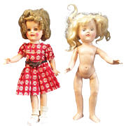 A Great Pair of Vintage Ideal Dolls that need TLC