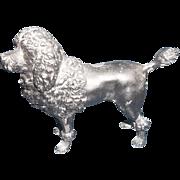 Great Metal Antique Poodle Dog