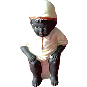 Black Americana Figurine, Black Boy Sitting on a Chamber Pot