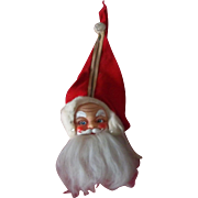 Vintage Musical Santa Face Candy Container