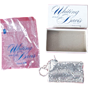 Whiting and Davis Vintage Mesh Small Purse Zip Key Chain