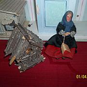 Vintage Jay Doll of Ireland and Bird House