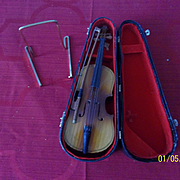 Vintage Dolls Wood Cello that Plays Music