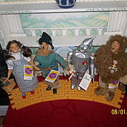 Wizard of Oz- Presents 1987 Set of 4 Dolls