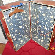 A Great Larger Vintage Metal Doll Case