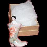 Frozen Charlotte in a Beautiful Boot