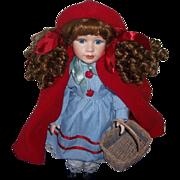Vintage Little Red Riding Hood Porcelain Doll