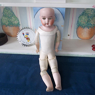 German Bisque Head Ruth Doll in Need of Repair