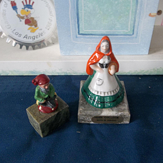 Irish Luck with this Vintage Little Leprechaun and Irish Coleen