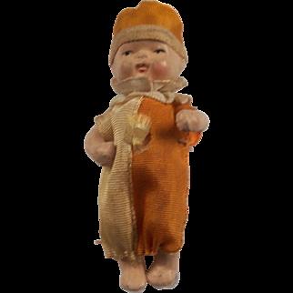 Sweet Little 3.5 Inch Bisque Clown Doll