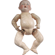 Great Little Bisque Head Doll with a Cute Face
