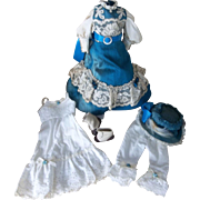 Wonderful Dress and Hat with Undergarments,also Shoes