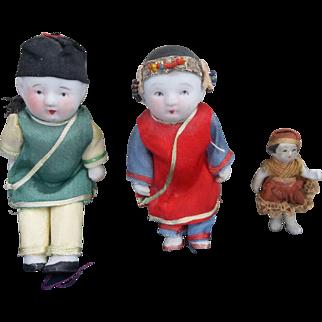 Set of 3 Asian Oriental Dolls