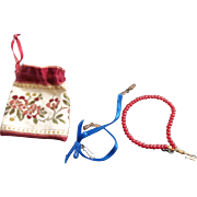 2 Vintage Necklaces in a Little Pouch