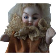 A Sweet All Bisque Dollhouse Doll