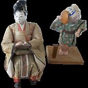 2 Small Japanese Dolls