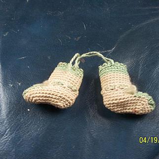 Amazing Tiny Antique Booties