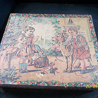 Beautiful Victorian Wood Block Picture Puzzle