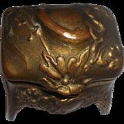 Wonderful 1900's  Gold Tone Jewelry Casket
